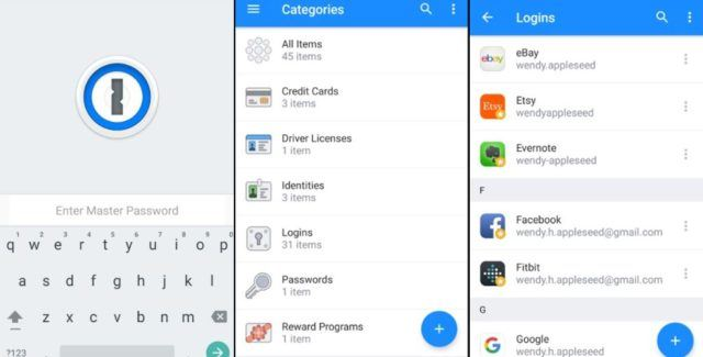 1password android password manager