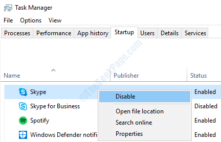 stop skype from starting automatically windows 10 2020