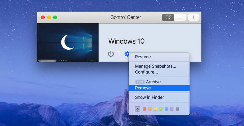 Remove parallels access from mac