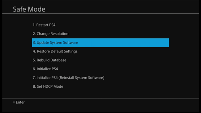 PS4 update file corrupted su-30645-8