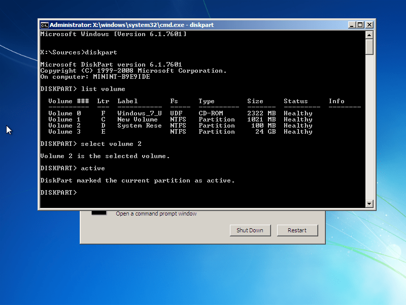 Windows 10 reboot and select proper boot device or insert boot media