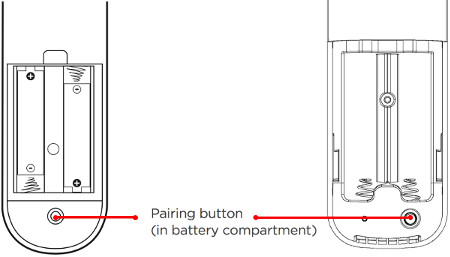 Where is pairing button tcl roku remote