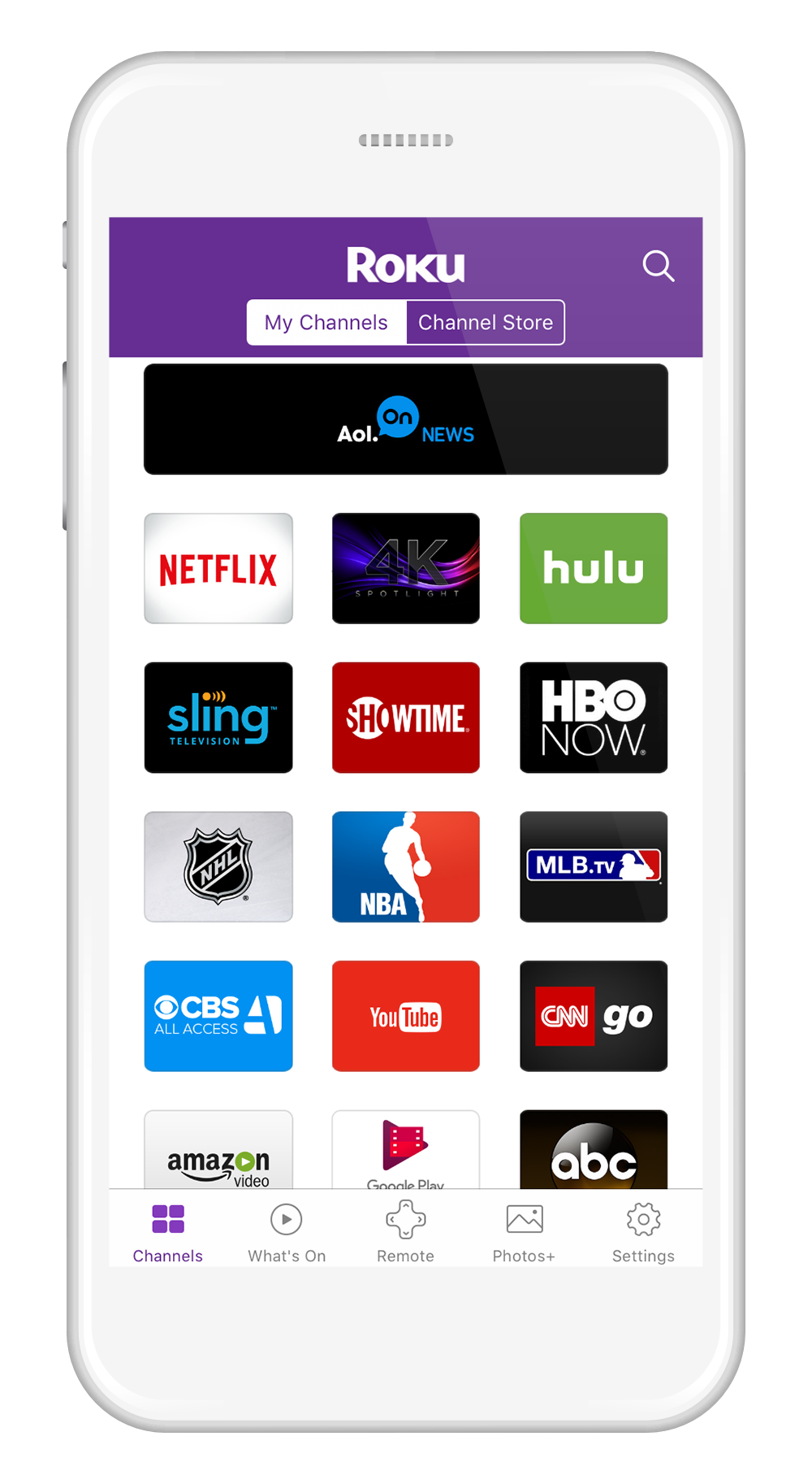 how to connect roku to internet without remote iphone
