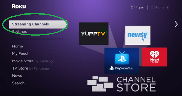 how to set up apple tv plus on roku