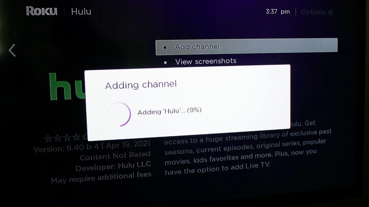 how to install hulu on roku