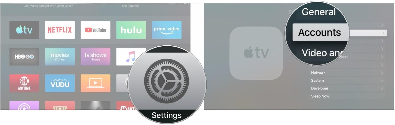 how to set up apple tv box on roku