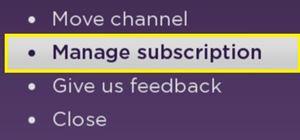 how to cancel starz subscription on roku tv