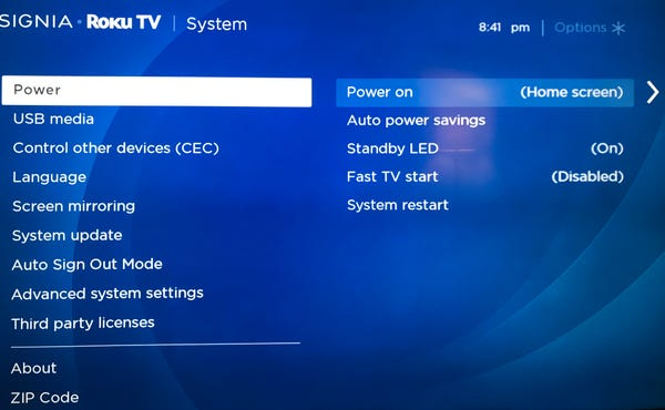 how to turn off roku express 3930x