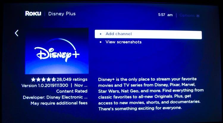 how to add disney plus to roku smart tv