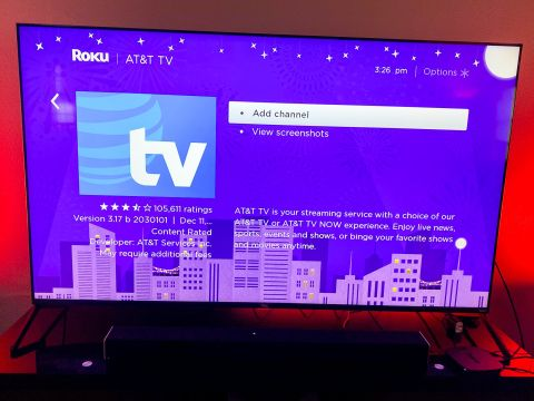 How to get AT&T Tv on roku device